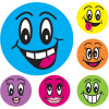 AVERY MERIT STICKERS Smiley Faces 43mm Pk102