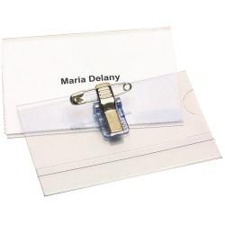 REXEL CONVENTION CARD HOLDERS With Pin & Clip Box 50