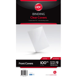 GBC Binding Covers A4 250 Micron Clear Pack of 100