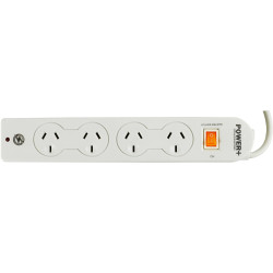 POWERPLUS POWERBOARD 4 OUTLET Master Switch Surge & Overload