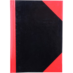 RED AND BLACK NOTEBOOK Gloss Cover A6 100 Leaf