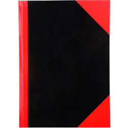 RED AND BLACK NOTEBOOK Gloss Cover A7 100 Leaf