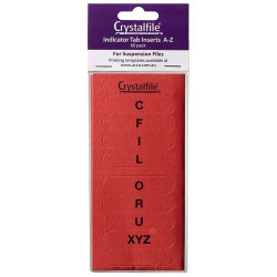 CRYSTALFILE TAB INSERTS A-Z Red Pack 60