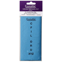 CRYSTALFILE TAB INSERTS A-Z Blue Pack 60