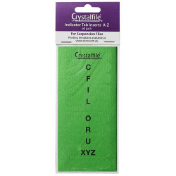 CRYSTALFILE TAB INSERTS A-Z Green Pack 60