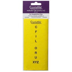 CRYSTALFILE TAB INSERTS A-Z Yellow Pack 60