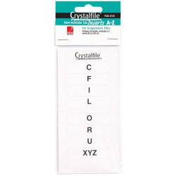 CRYSTALFILE INDICATOR INSERTS New Style A-Z White Pack 60