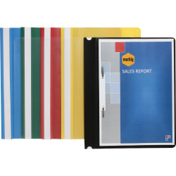 MARBIG STANDARD PP FLAT FILES A4 (Clear Front) Yellow