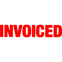 XSTAMPER -1 COLOUR -TITLES D-F 1532 Invoiced Red