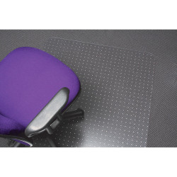 MARBIG POLYCARBONATE CHAIRMAT Small Keyhole 900x1200mm Clear