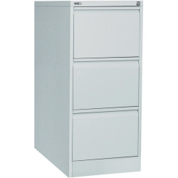 GO 3 DRAWER FILING CABINET H1016xW460xD620mm Silver Grey