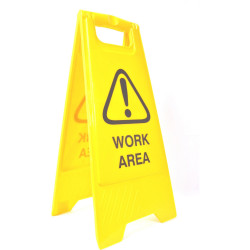 CLEANLINK SAFETY SIGN Work Area 32x31x65cm Yellow
