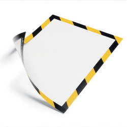 DURABLE DURAFRAME SECURITY A4 Yellow/Black Pack 2
