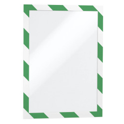DURABLE DURAFRAME SECURITY A4 Green/White Pack 2